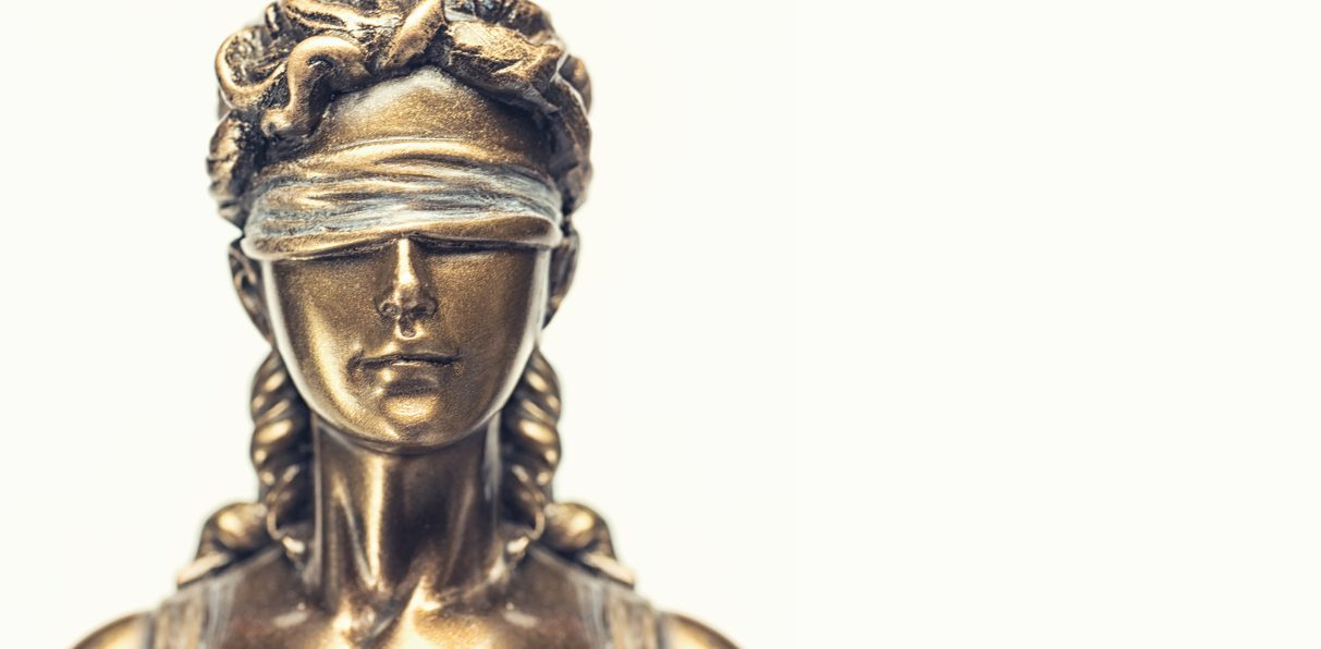 Face of lady justice or Iustitia – The Statue of Justice