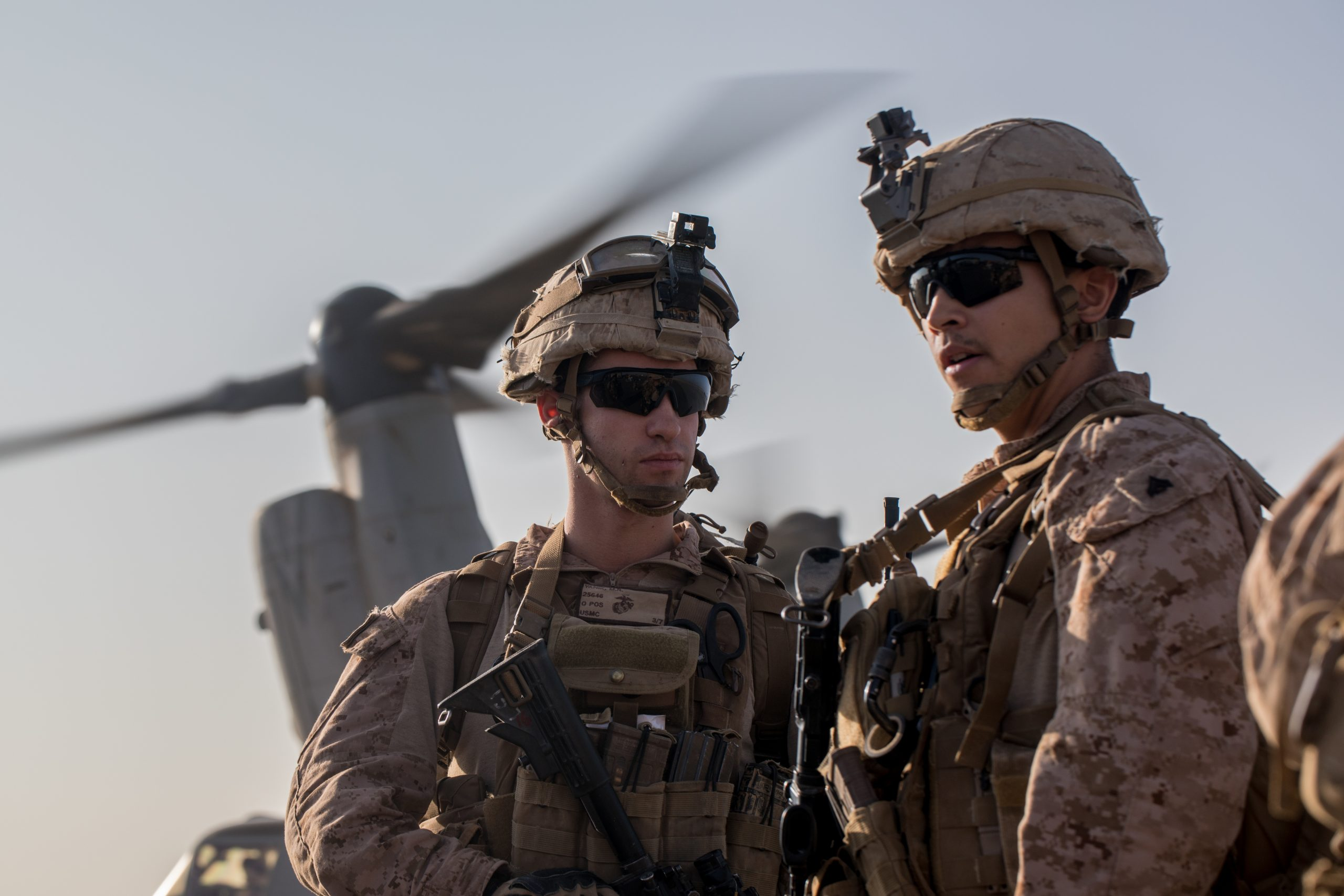 U. S. Marines conduct training near At-Tanf Garrison